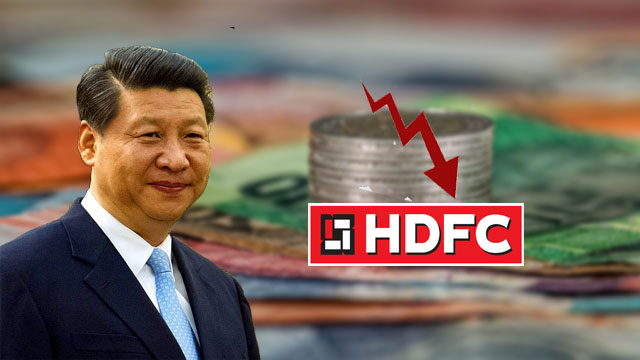 China buys 1% stake of HDFC, Results in Downfall of HDFC Share Price