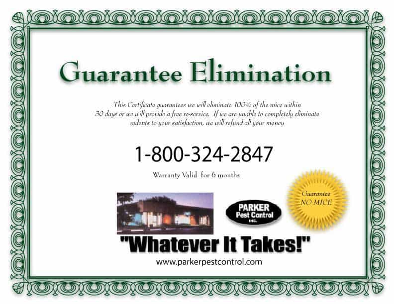Parker Pest Control Pest Elimination Guarantee