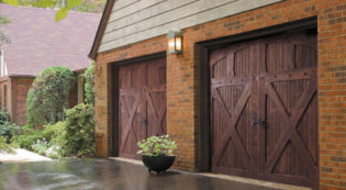 Leon Valley Wood Garage Door