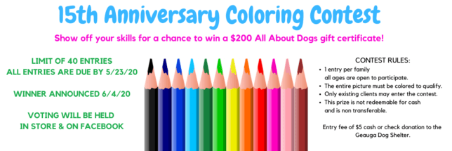 All About Dogs Coloring Contest
