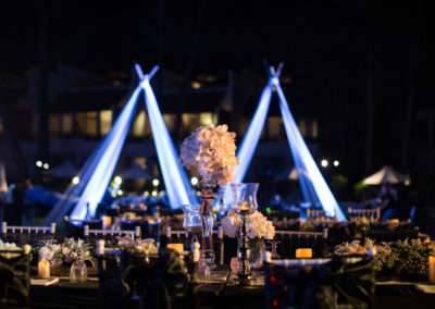 Outdoor Night Wedding