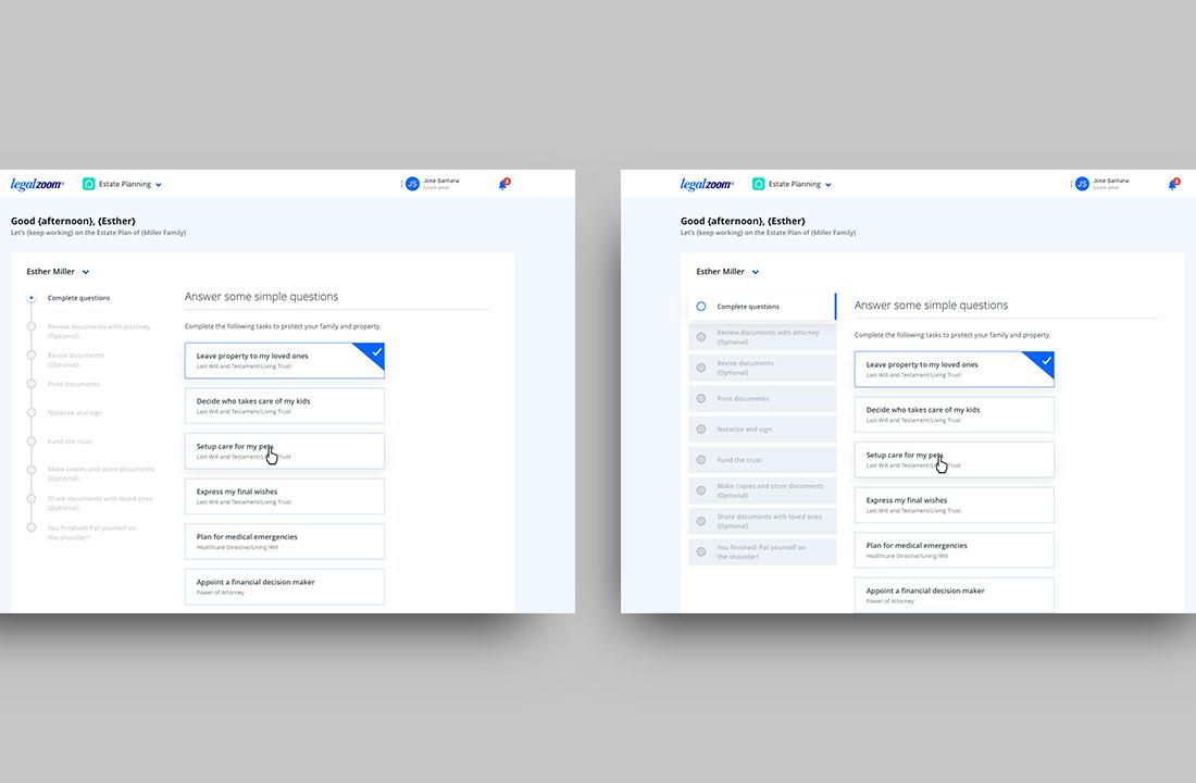 Dashboard explorations (Desktop)
