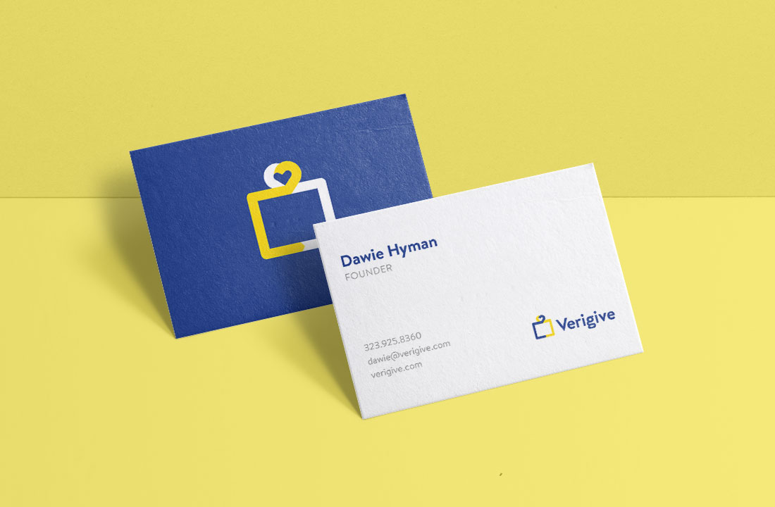 Verigive business card