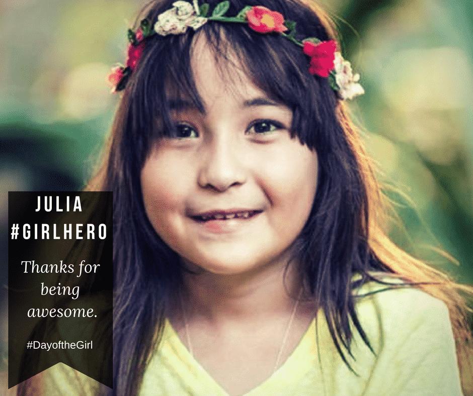 girlhero JuliaAmanda Día Internacional de la Niña