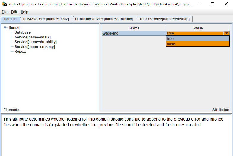 changing report append setting