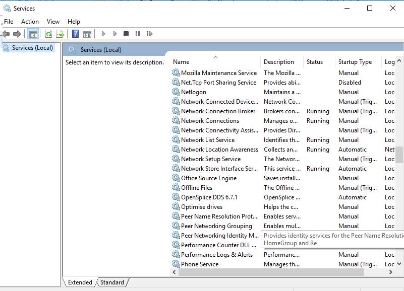 OpenSplice as windows service