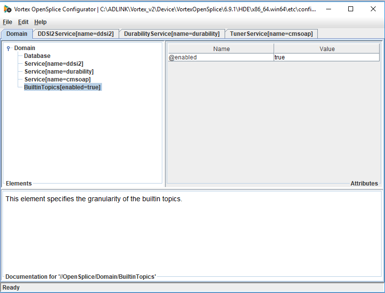 How to disable built-in topics using the osplconf tool