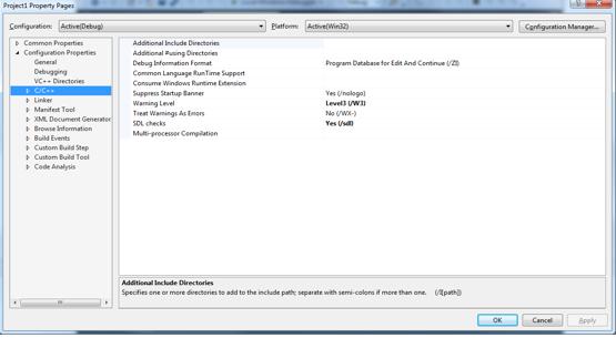 addiing vortex dds includes in mircosoft visual studio c++