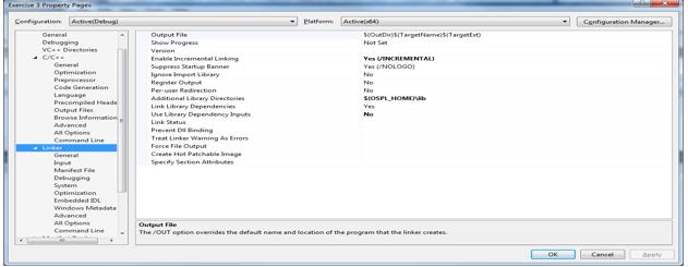 Setting linker options in OpenSplice