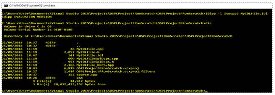 files produced when compiling idl file with Vortex OpenSplice