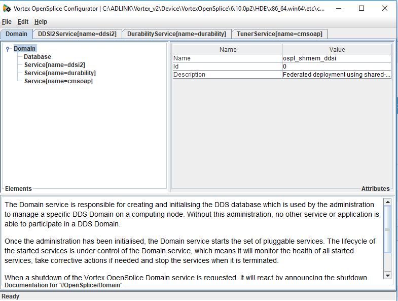 OpenSplice Configuration Tool