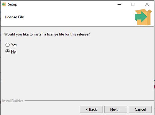 Edge SDK Installer install license page