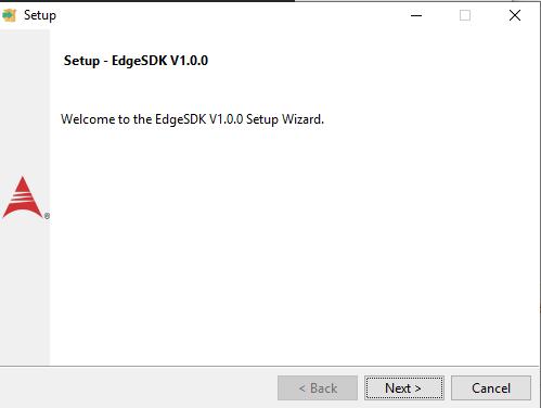 Edge SDK installation wizard