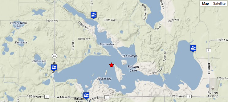 Balsam-Lake-Map