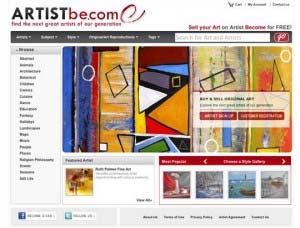 Screenshot of ArtistBe.com Website
