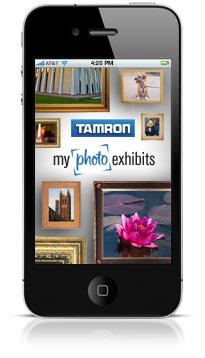 iPhone app for Tamron MyPhotoExhibits.com