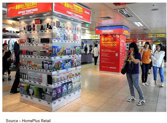 Subway Display Island in South Korea from HomePlus Retail