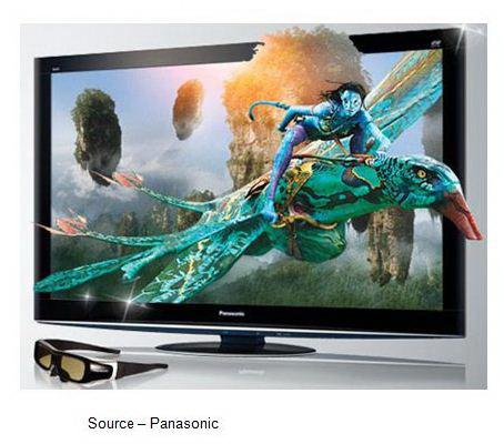 3D TV screen by Panasonic