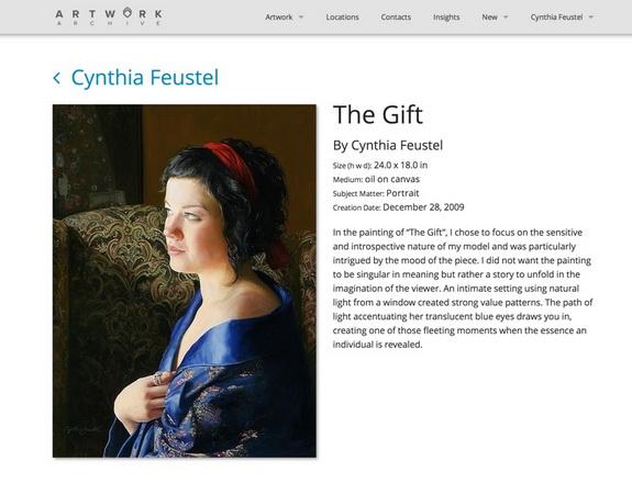 Artwork Archive Public Profile Page
