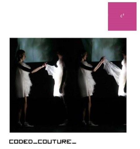 The Coded_Couture exhibit opens at the Pratt Manhattan Gallery February 12 and will run through April 30 before traveling to other sites. For details see: www.curatorsquared.com
