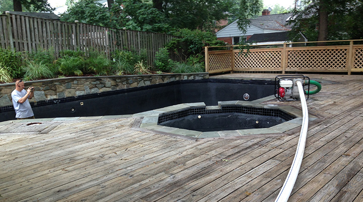 Carroll Bros Contracting deck pool removal