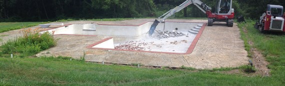 Large Pool Removal in North Baltimore