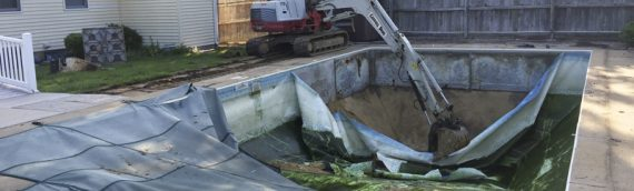Vinyl Liner Pool Removal in Arnold, Maryland