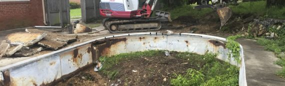Vinyl Swimming Pool Removal in Clinton, Maryland