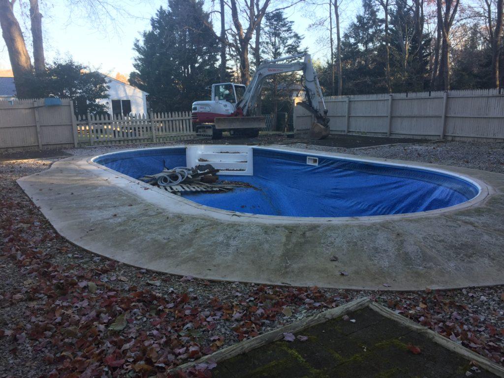 Vinyl Pool Removal Davidsonville Maryland