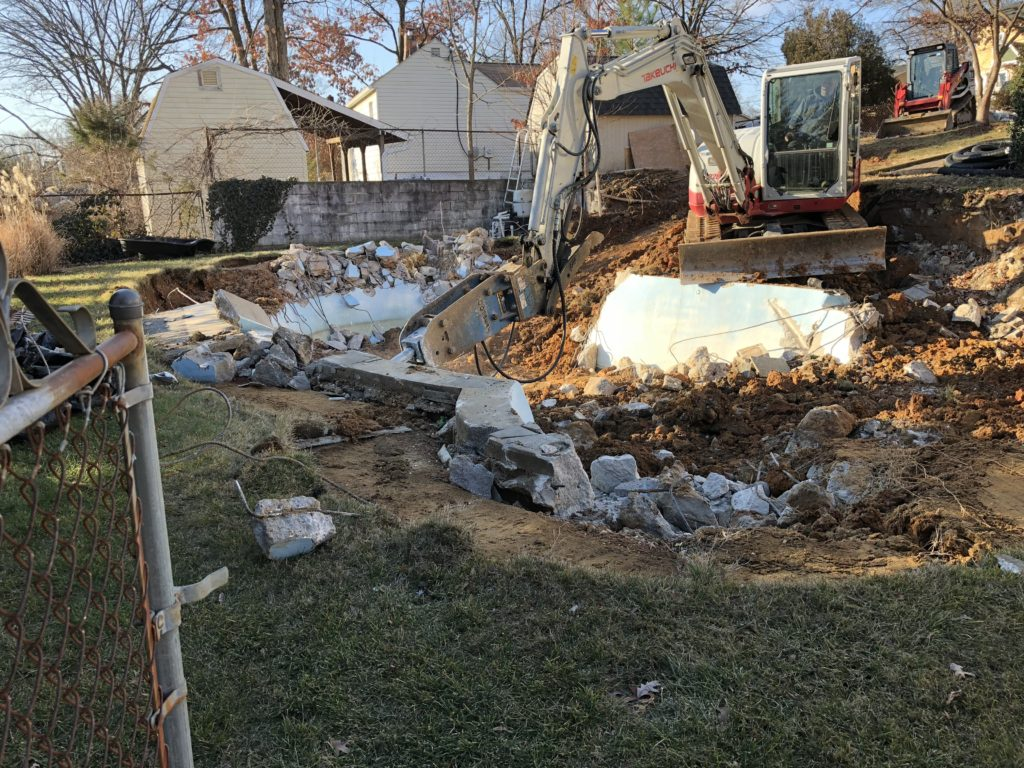 Concrete Pool Removal in Laurel Maryland