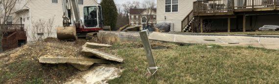 Gunite Pool Removal in Clinton Maryland