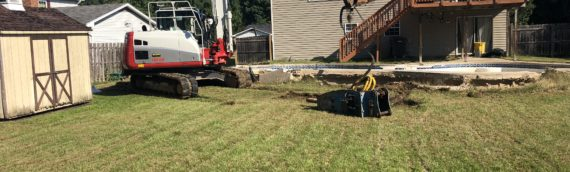 Concrete Pool Removal in Severn, Maryland