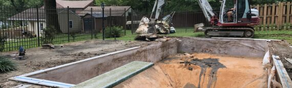 Vinyl Liner Pool Removal in Towson Maryland