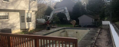 Concrete Pool Removal in Silver Spring Maryland
