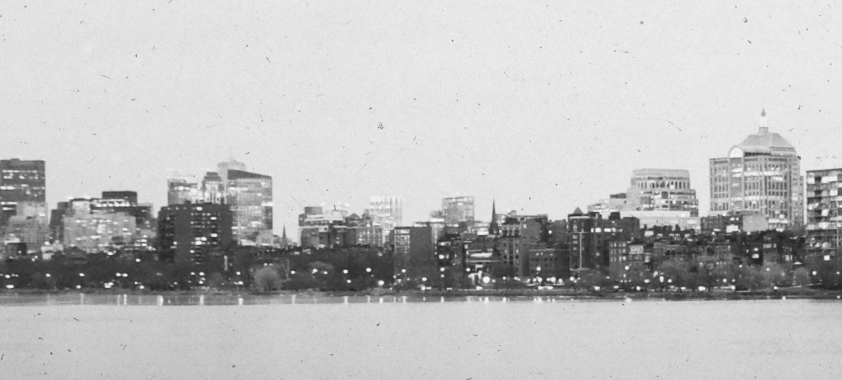 Boston Harbor Skyline View