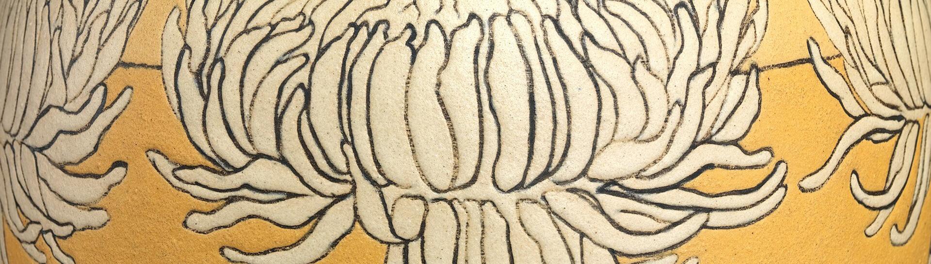 Paul Revere Pottery Vase Detail
