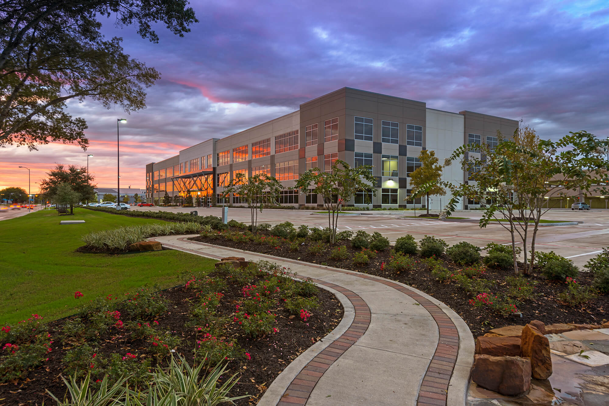 Commercial Architecture at Dusk