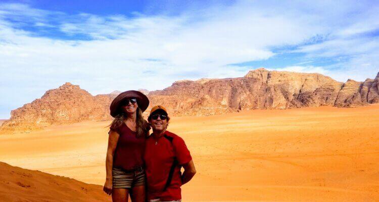 Rob and Masha at Wadi Rum