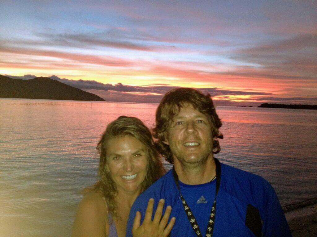 Rob and Masha in Fiji