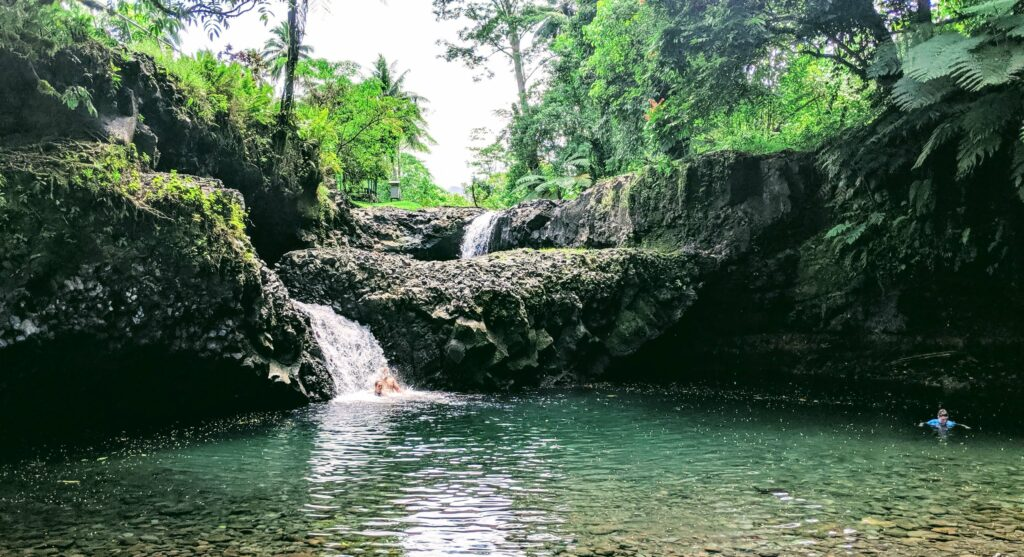 Togitogiga Falls a great watering hole for adventures in Samoa