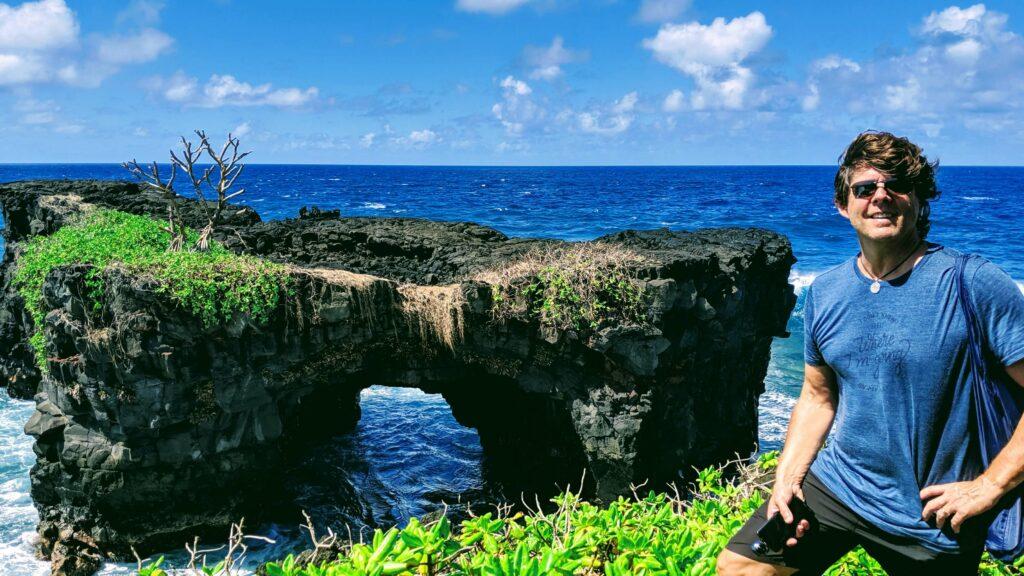 Lava Formed Archways on the Coastal Walk