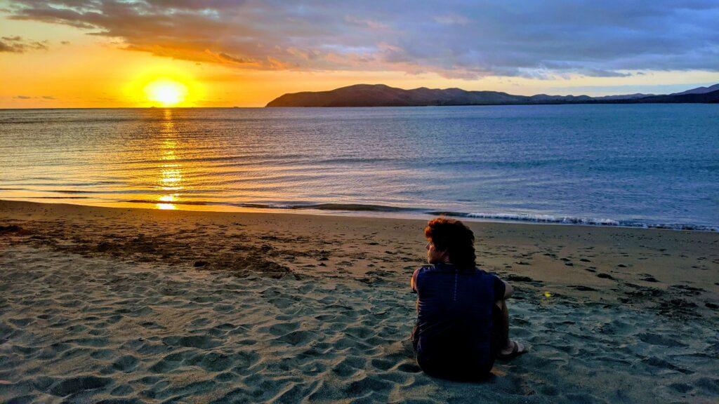Sunset over New Caledonia