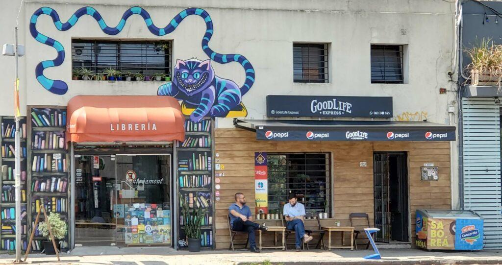 Montevideo Street Art Palermo Book Store