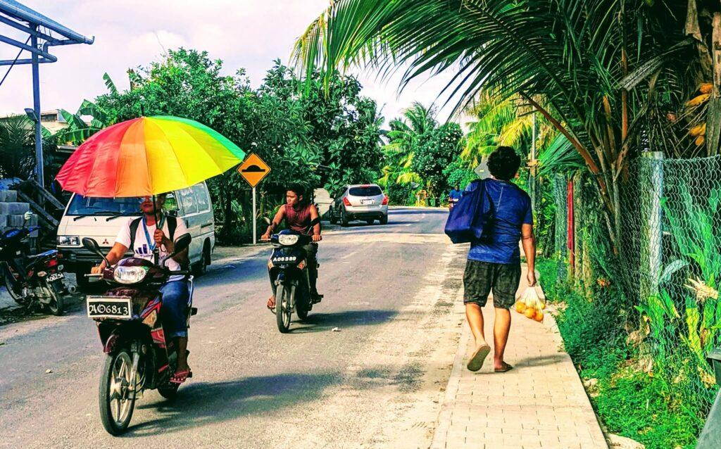 Getting around Tuvalu on Mopeds