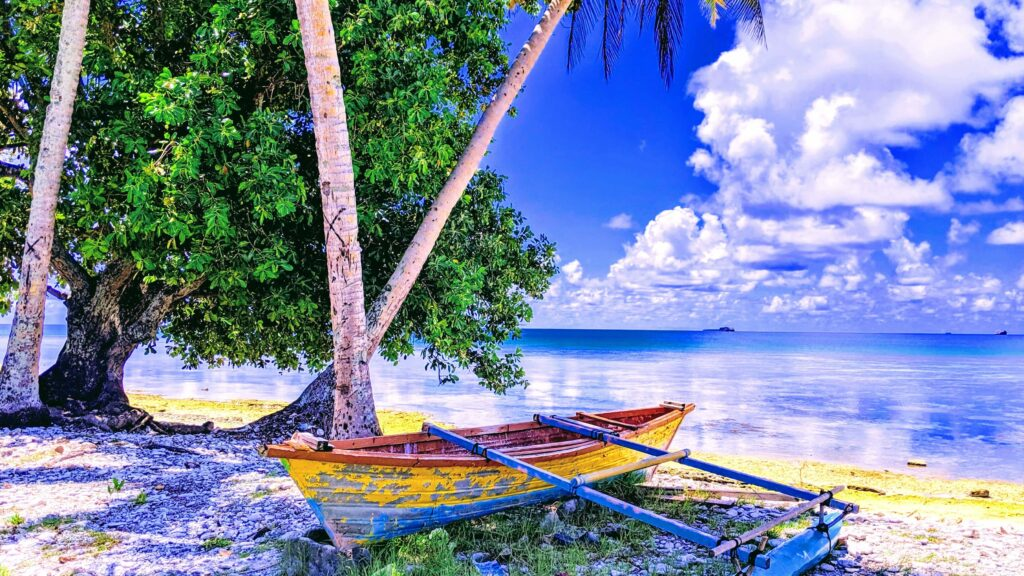 Typical Scenery in Tuvalu posing the question is Tuvalu Worth a Visit?
