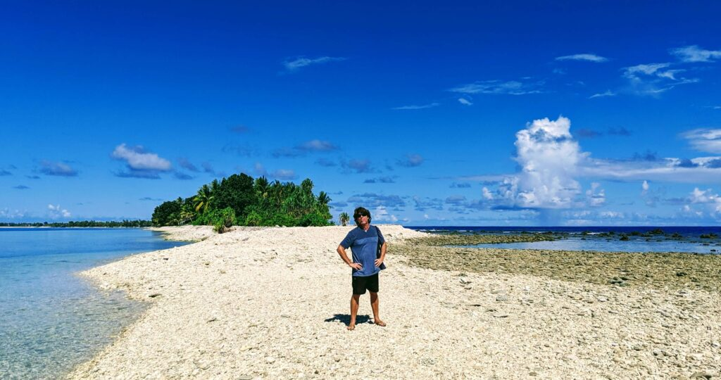 Low Tide allowing us to go to the tiny islets make Tuvalu a place worth a visit