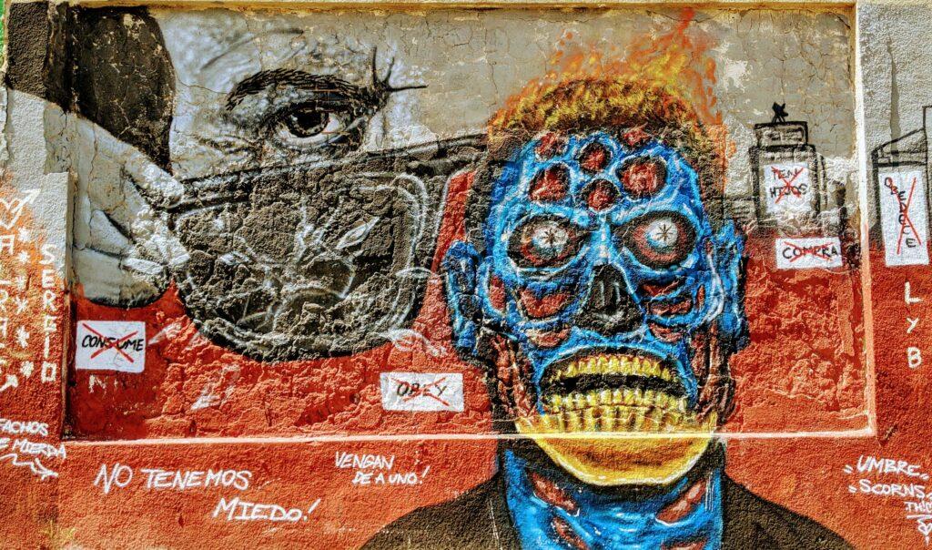 Artful Self Expression on Rambla Republica Argentina