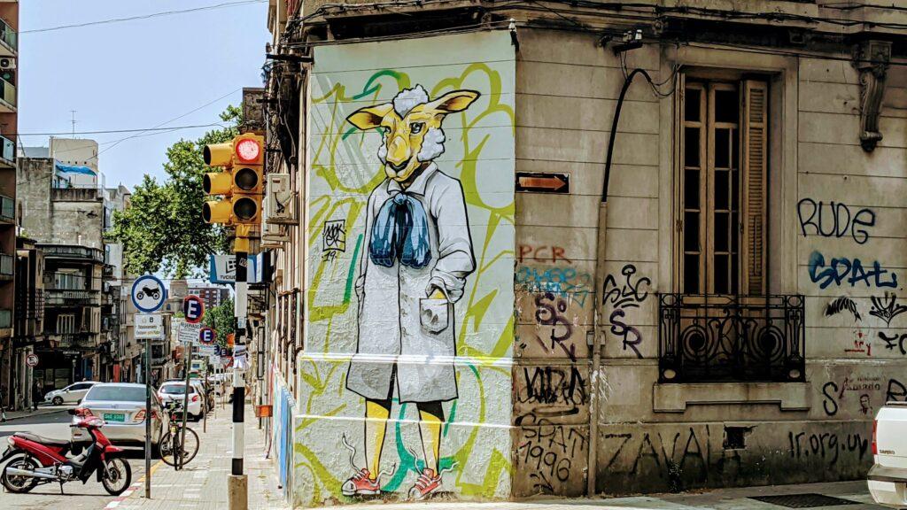 Montevideo Street Art Sheep