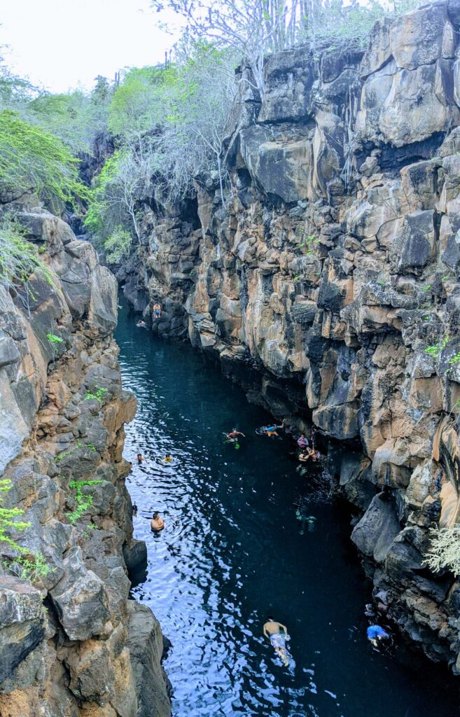 Galapagos on a budget Las Grietas is free for tourists to visit