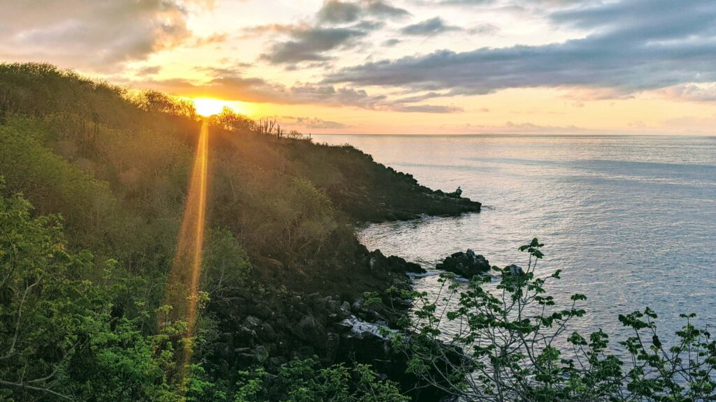 A sunset on San Cristobal Galapagos is affordable on any budget